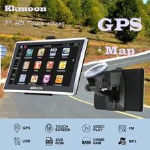 """7 """"HD Сенсорный экран Портативный GPS Navigator 4 ГБ Встроенная память fm MP3 воспроизведения видео автомобиля Развлечения Системы с Поясничные бандажи + Бесплатная Географические карты"""