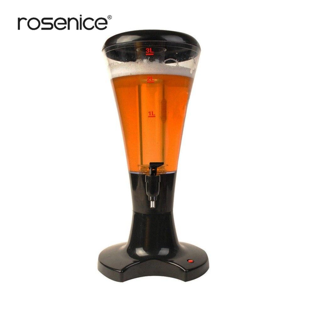 Dispensador de jugo de bebida de torre de vino de cerveza de 3LTabletop con luces brillantes LED nuevo dispensador de cerveza-in Decantador from Hogar y Mascotas    1