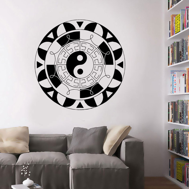 wall stickers vinyl decal yin yang oriental chinese symbol decor
