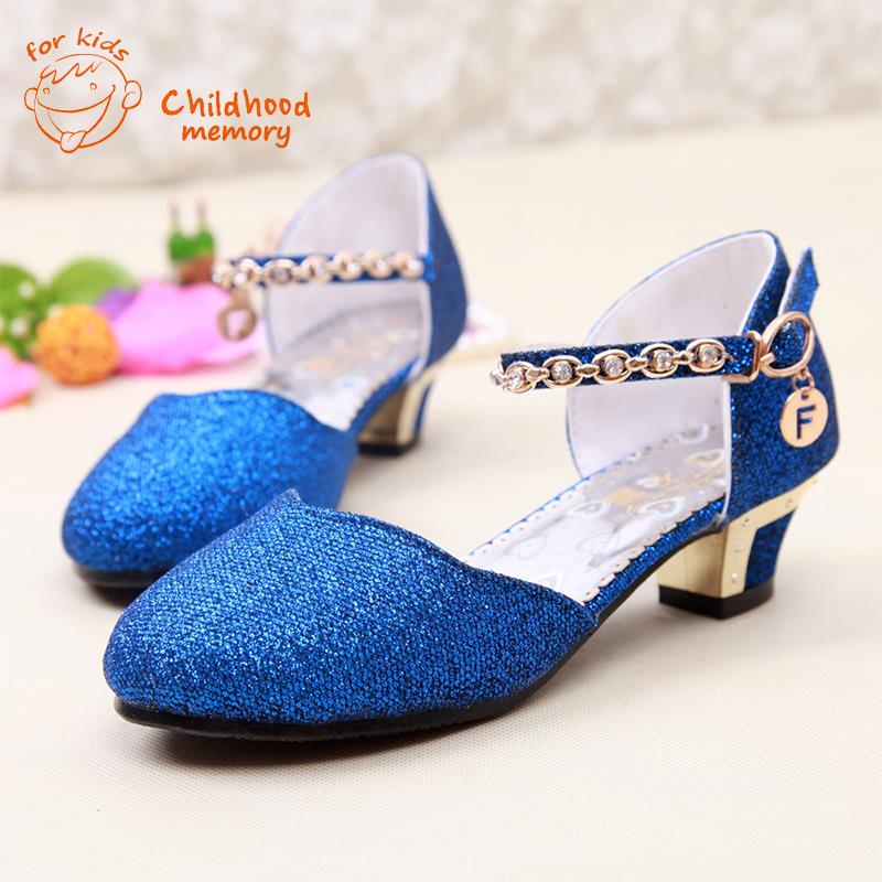 b3bf368e0a Baby Girls High Heels Princess Sandals 2016 New Summer Autumn Baby Shoes  For Girl Fashion Sandals Wedding Clogs Korean Ladies