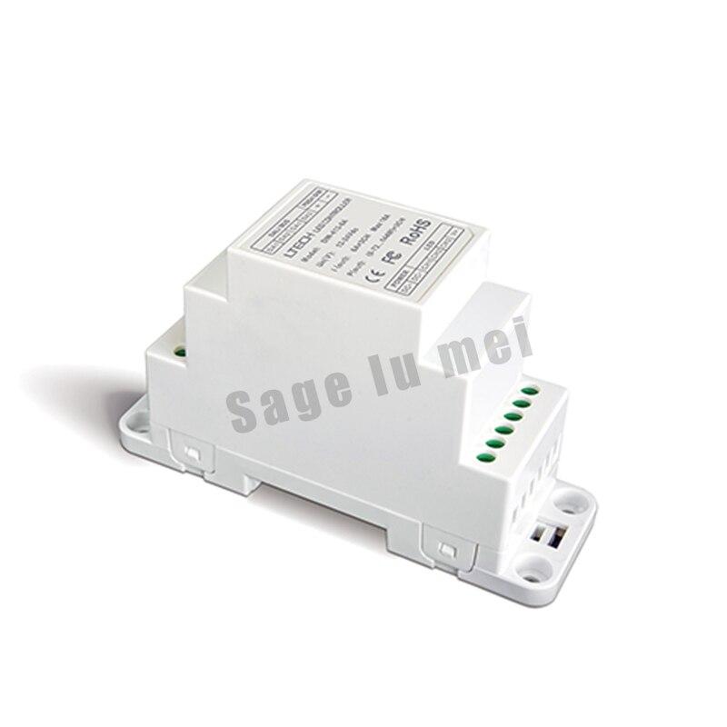 ФОТО Free shipping LTECH DIN-413-6A;DC12V-24V input CV DALI Dimming Driver Puch Dim(DIN rail/Screw dual-use);6A*3CH MAX 18A output