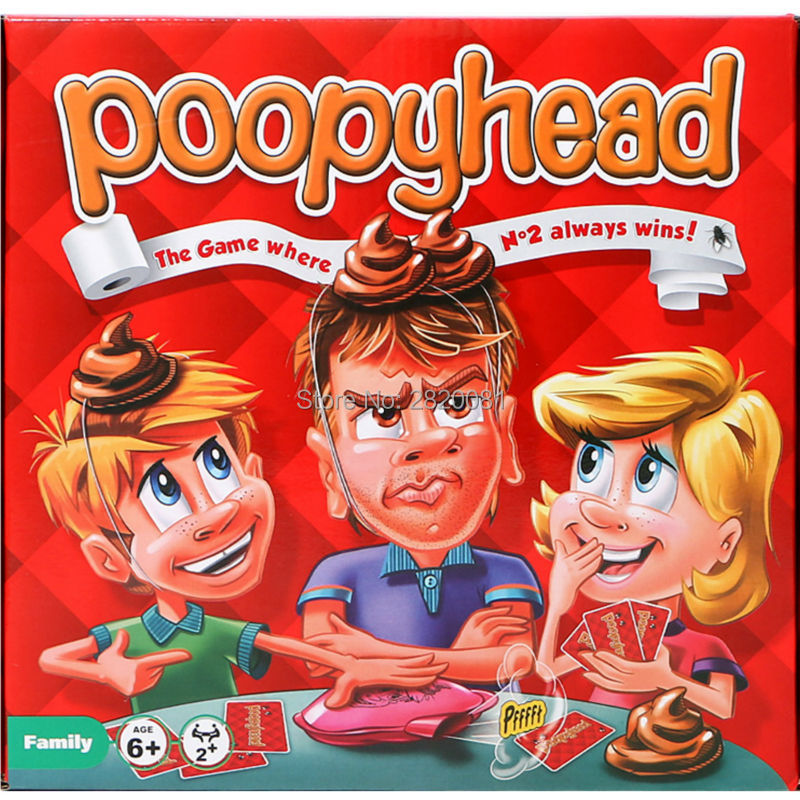 party funny game for whole family poopyhead card game,The game where number2 always wins,hilarious puzzle toys for 2+ players