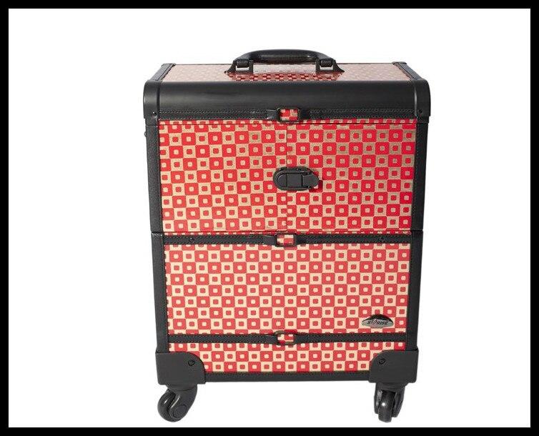 Dhl Gratis Verzending Make Case Professionele Cosmetische Salon Make Beauty Case Trolley Cosmetische Case Koop Nu