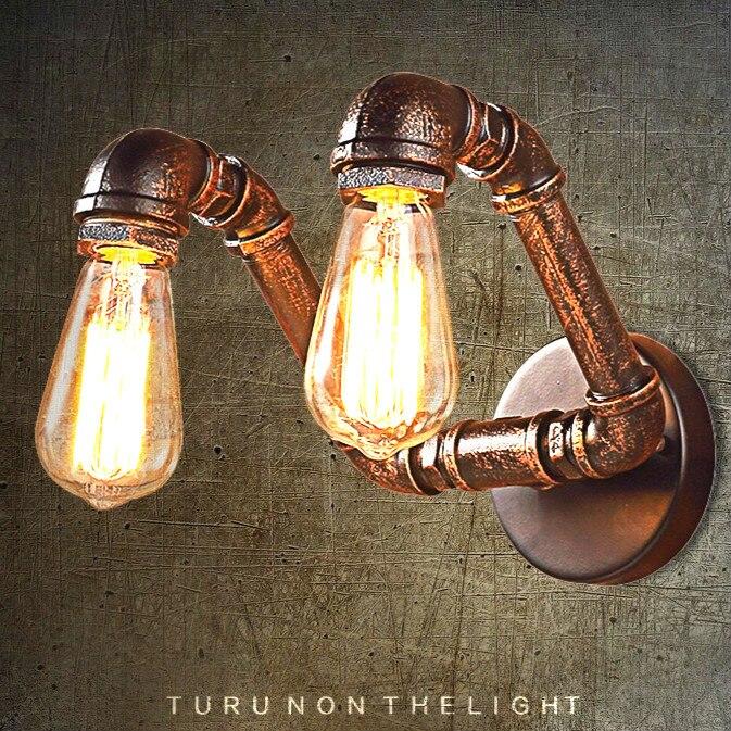 Lámparas de pared Retro industria Loft personalidad luz dormitorio pasillo  Bar Club café restaurante lámpara tubo de agua lámparas de la vendimia d1411ea918ff