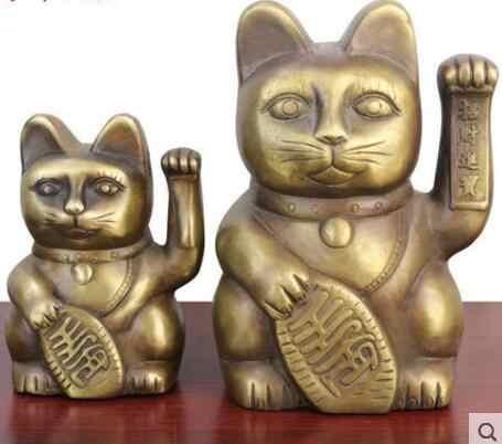 YM  505  Pure copper A Fortune Cat Ornament Arts and Crafts