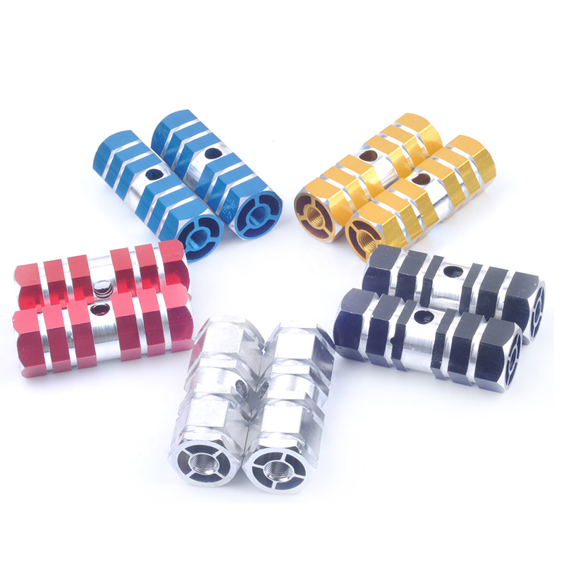 Aluminum alloy MTB Road Bike Pedal Foot Pegs Non-Slip Station foot Footrest Lever Cylinder Bicycle Accessories