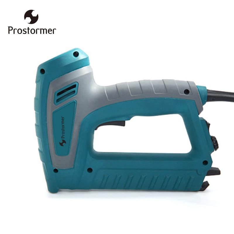 Prostormer 220V Electric Stapler Nail Gun Stapler Stapling Machine For Furniture Woodworking Stapler Nail Gun Power Hand Tools все цены