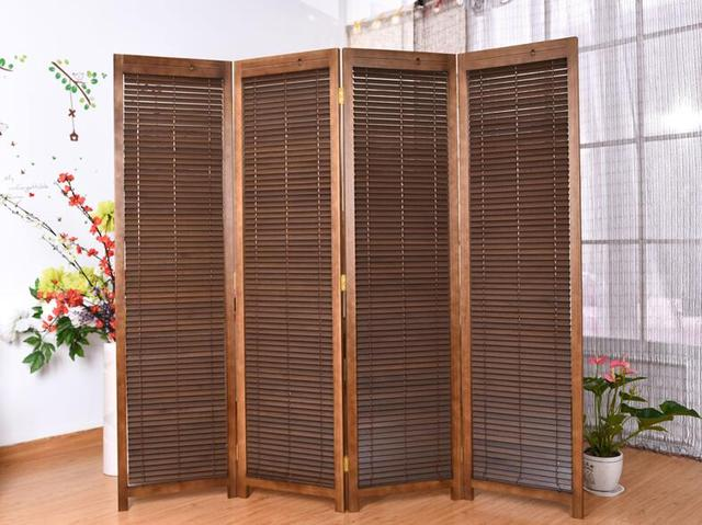 Oriental Style 4 Panel Folding Screen Room Divider Partition