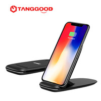 TANGGOOD 10W Qi Wireless Charger For IPhone 8 8Plus X Foldable Fast Wireless Charging For Samsung