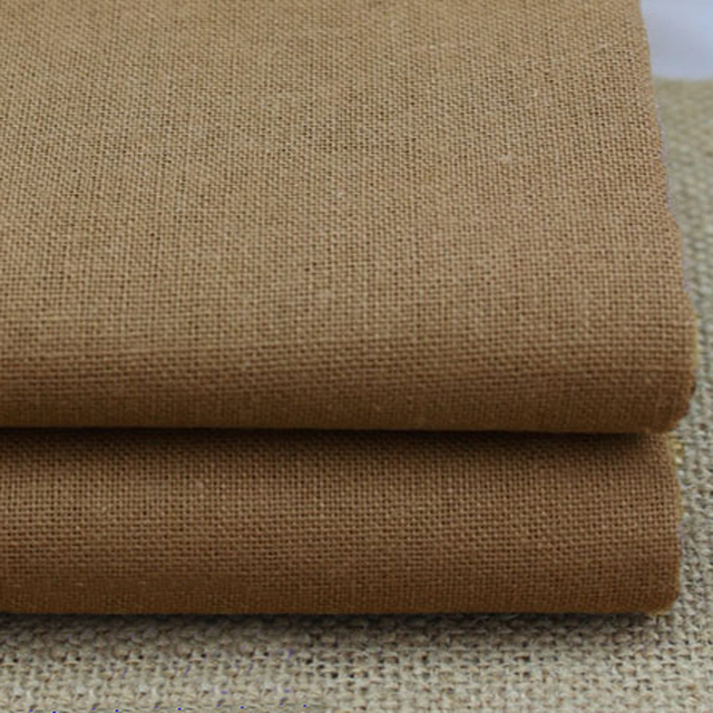 100 140cm Plain Dyed Cotton Linen Material Tecido Natural Upholstery Textiles Sofa Fabric Coffee