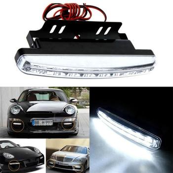 8 led światła do jazdy dziennej DRL lampa przeciwmgielna samochodu wodoodporna biała DC 12V samochód stylizacji 6000K Auto białe światełka