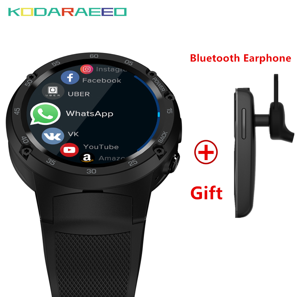 Smart watch Android 7.0 MTK6737 Quad Core 1GB+16GB 5MP Camera 580mAh 4G/3G/2G Data Call SmartWatch Phone Men fashion 2018 zeblaze thor smartwatch phone 4 4g lte gps android 7 0 mtk6737 quad core 1gb ram 16gb rom 5 0mp camera 4g 3g 2g watch phone