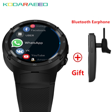Smart watch Android 7.0 MTK6737 Quad Core 1GB+16GB 5MP Camera 580mAh 4G/3G/2G Data Call SmartWatch Phone Men fashion 2018