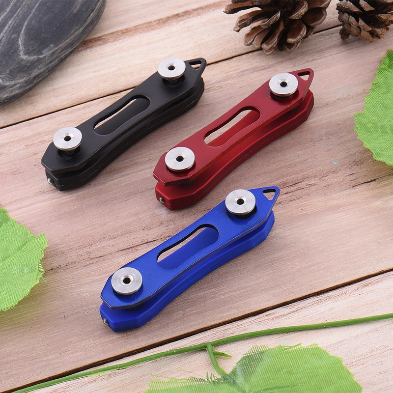 Metal Flexible Keychain Key Organizer Folder Holder Clip Case Pocket Tool Slice
