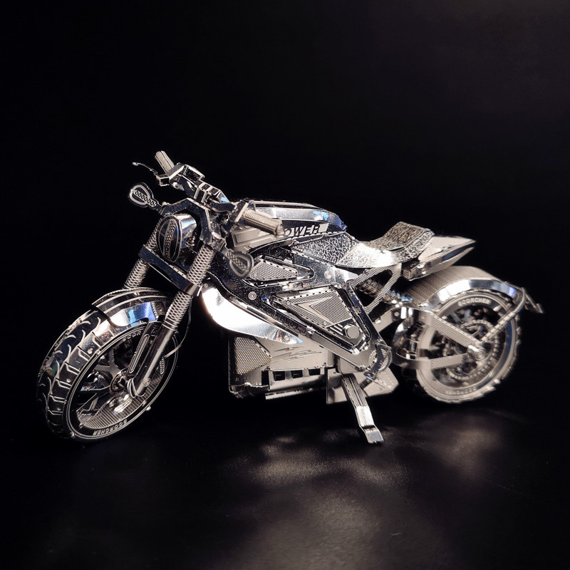 AVENGER MOTORCYCLE NANYUAN I22203 Collection Level Puzzle 3D Metal Assembly Model 1:16 2 Sheets Souptoys Creative gifts hk nanyuan 1 3 sheets st petersburg cathedral
