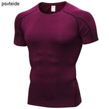 Sports tshirts men compression T-shirts dryfit short sleeve