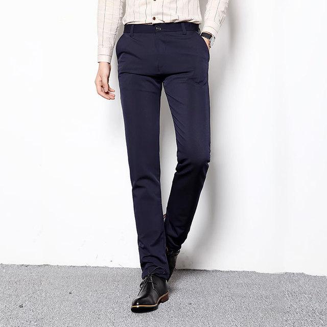 grande vente 5661f 94b27 € 19.36 49% de réduction 2017 Hommes Robe Pantalon Plus La Taille 28 38  Pantalons Formelle Mince Fit Pantalon De Mariage Hommes Occasionnels  Costume ...