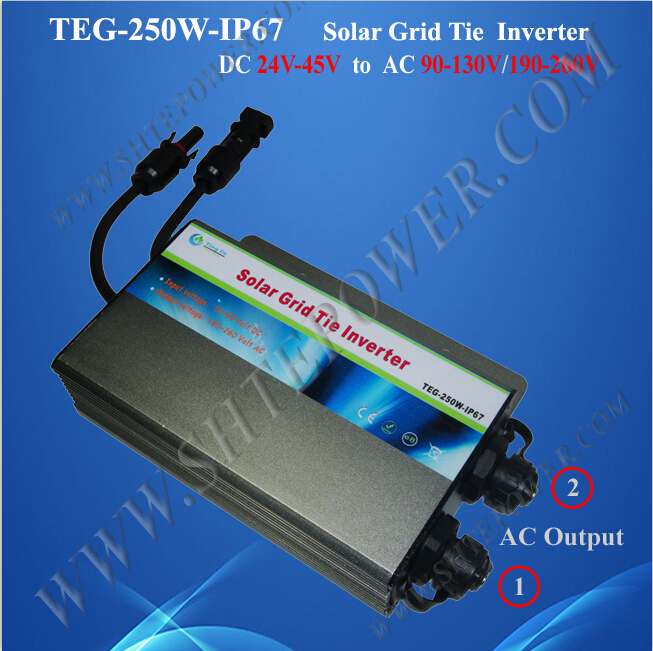 цена на Approved by CE and ROHS grid tie 22-50v dc waterproof inverter 250w solar
