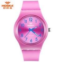 แฟชั่นใหม่ยี่ห้อHOSKAผู้หญิงนาฬิกาหรูกีฬาควอตซ์นาฬิกาข้อมือกันน้ำอิ