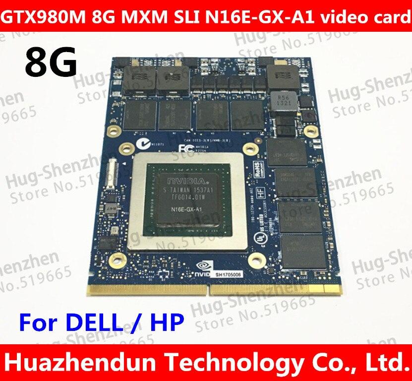 Meilleur pour Dell Alienware 18 M18X R2 R3 R4 18 pouce Ordinateur Portable nVidia GeForce GTX 980 m Sli GPU 8 gb GDDR5 Carte Graphique