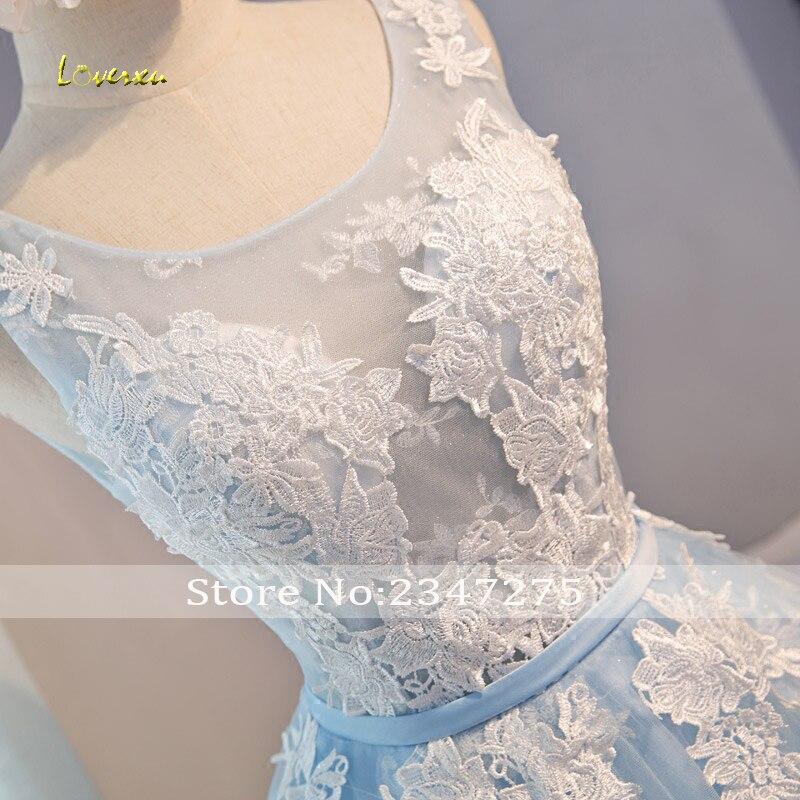 aeae21377ed Loverxu elegancka księżniczka skrzydła aplikacje krótkie koronkowe sukienki  Homecoming 2019 Scoop Neck Lace Up line sukienka na studniówkę gorąca  sprzedaż w ...