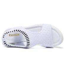 Women Sandals 2019 Fashion  Breathable Comfort Shopping Ladies Sandals Summer Shoes wedge Black White Sandal Shoes