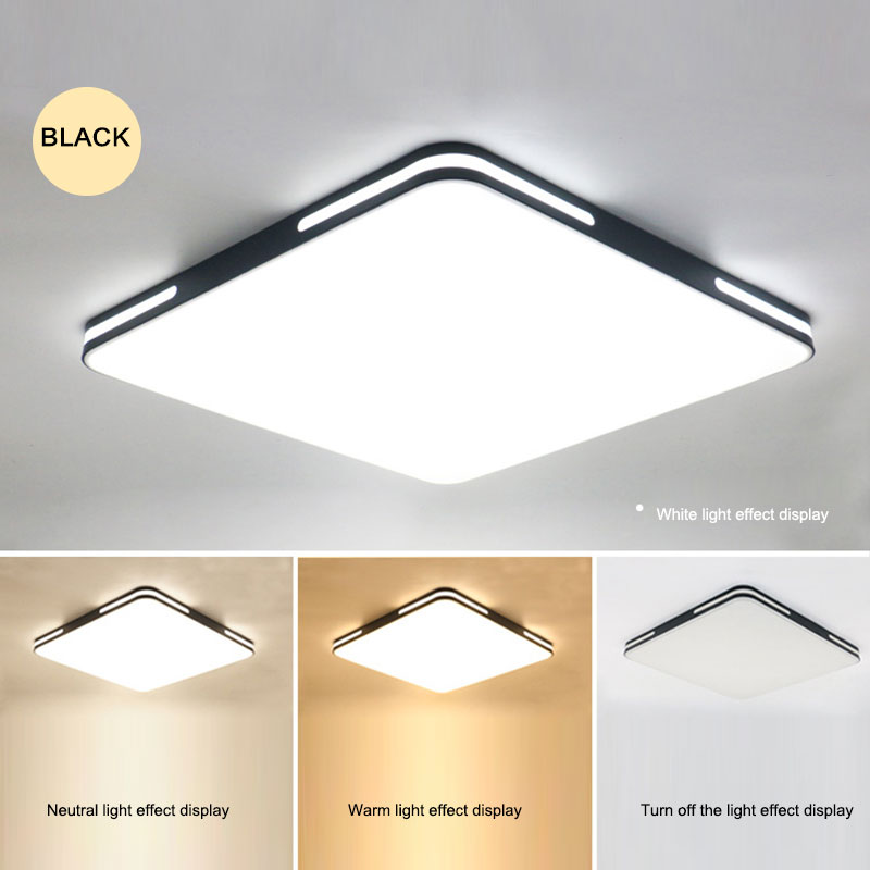 24W Modern LED Ceiling Light Fixtures for Study Dining Room Bedroom Living Room Balcony Ceiling Lamp AC90 265V HB