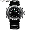 WEIDE Men Quartz Digital Watch Fashion Silicone Strap Steel Buckle Japan Movement Relogio LED Military Waterproof Wristwatches