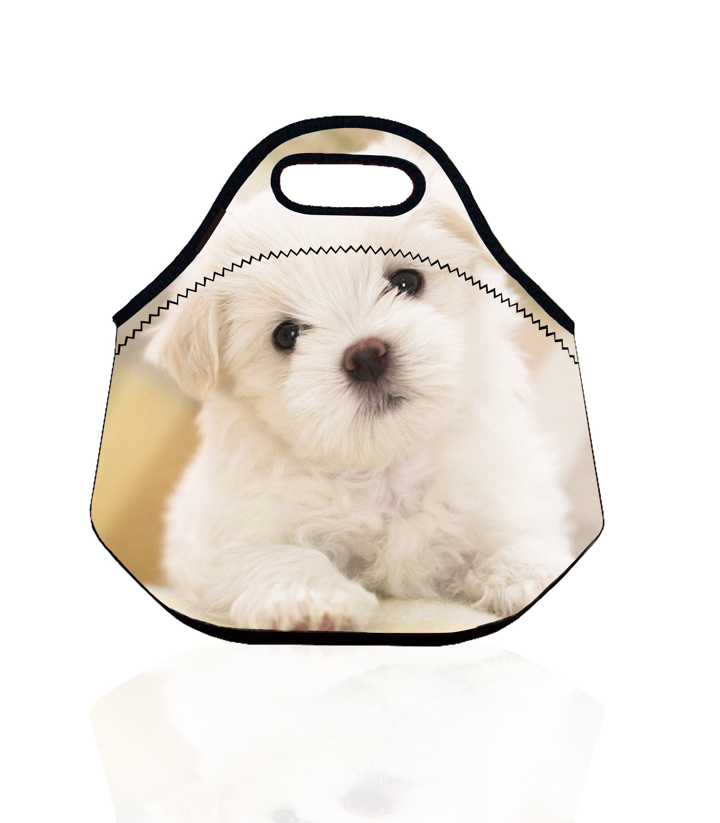 Cute Dog Neoprene Thermal Insulated Lunch Bag for Kids and Women Vacuum Bags Tote Lunch Box Storage Bag Lunch Cooler Bag