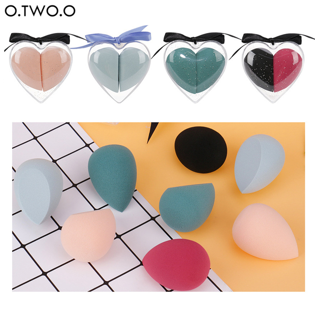 Fashion Heart Box Sponge Cosmetic Puff Water Drop Soft Sponge Makeup Puff For Foundation Powder Cream Concealer Make up Tool 1
