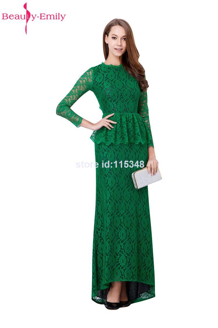 Dark Green marmaid   Dresses   Lace Flower Decorated Formal Long Gown Backless Sexy Women   Evening     Dress   Vestido De Festa 2018 New