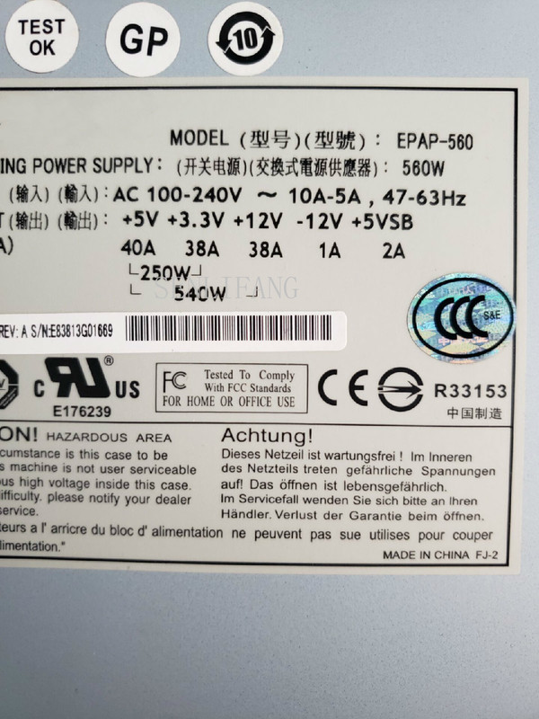 Free Shipping Server Power Supply For EPAP-560 560W Fully Tested