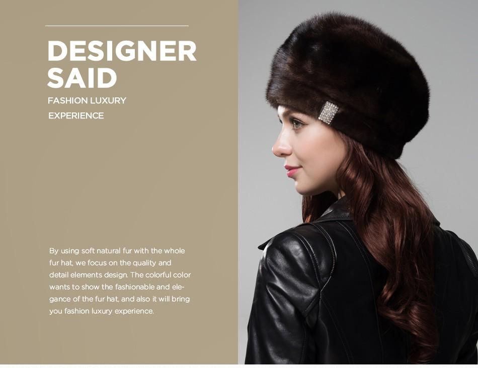 mink fur hat female winter PCM027 (2)