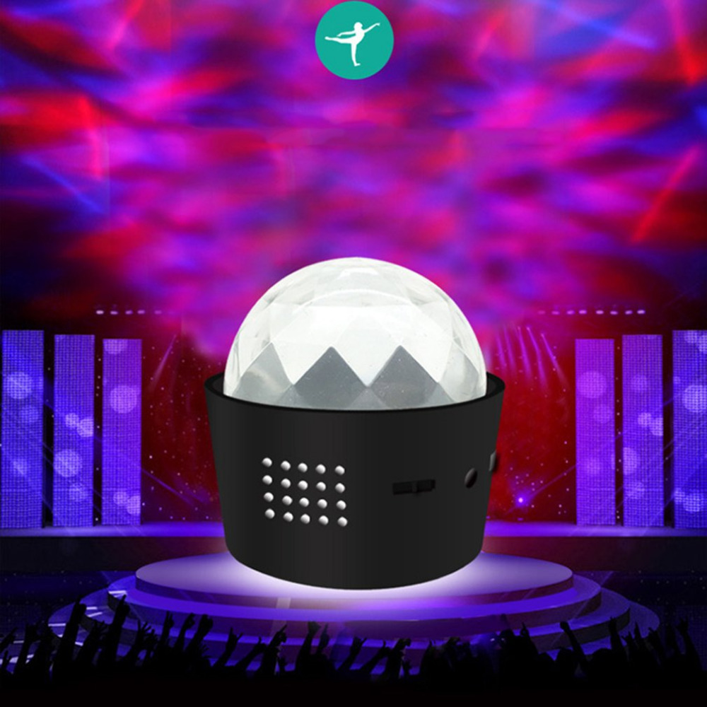 USB Rechargeable Sound Control Portable LED Party DJ Lights Mini Ball Lights Christmas Stage Lights with Built-in Sound Sensor