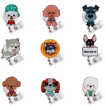 New Acrylic Cute Nurse Badge Holder Retractable Gift Animal Reel Security for Work