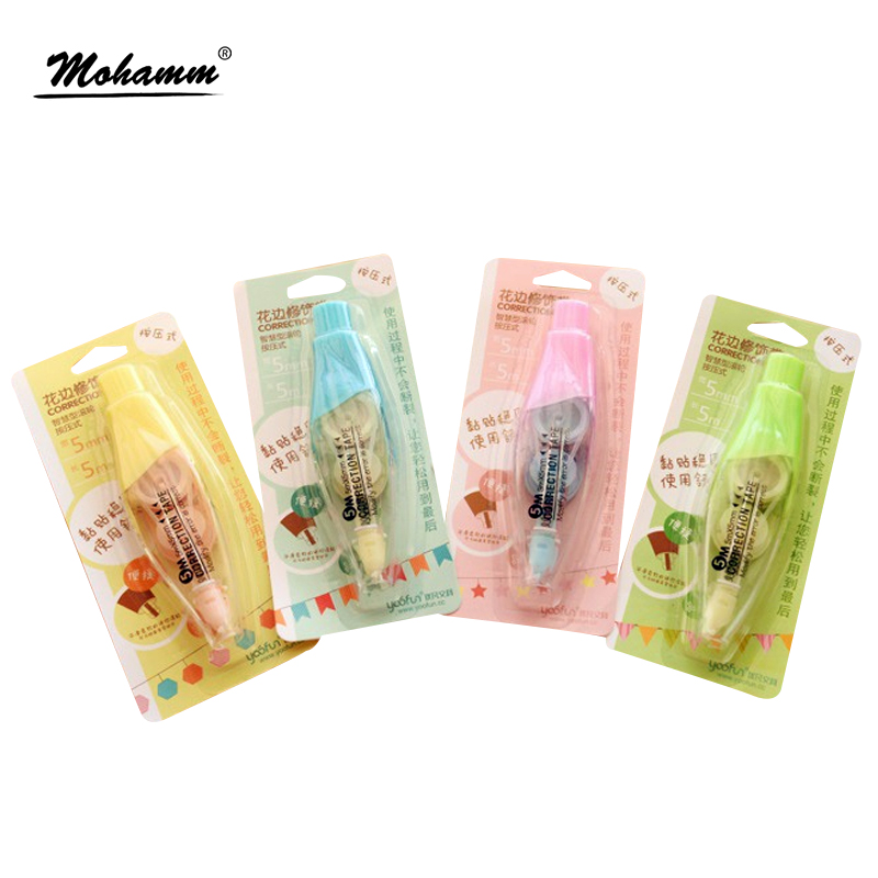 1 Pcs Cute Kawaii Korean Deco Decorative Start Correctin Tape Pen Stickers School Supplies Stationery For Kids Student Gift