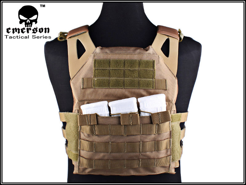 1000D Airsoft Emerson JPC Tactical Vest Simplified Version (CB) Tactical Vest Army Combat Gear EM7344 Free Shipping emerson gear lbt6094a style vest with pouches airsoft painball military army combat gear em7440g at fg aor1 aor2 kh cb mr hld