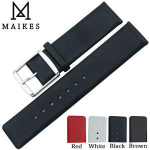 Ремешок для часов MAIKES 16 мм 18 мм 20 мм 22 мм из натуральной кожи, тонкий мягкий черный чехол для часов CK Calvin Klein