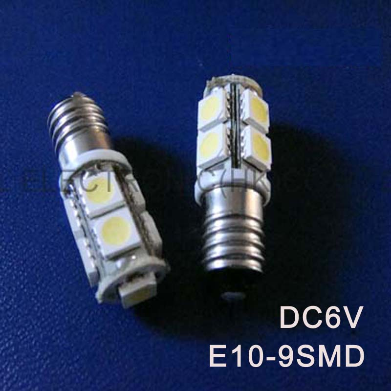High quality DC6.3V 6V E10 led light bulb Indicating lamp caution light Warning lights Warning Signal free shipping 5pcs/lot image