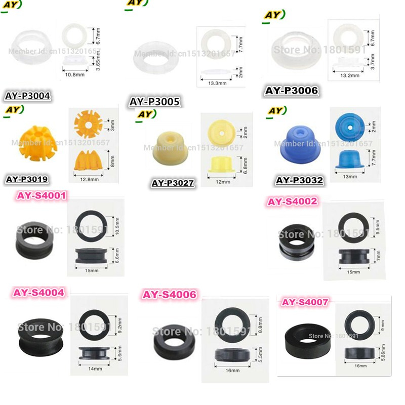 Free shipping 50sets Fuel injector rubber seal kit pintle cap kit  for fuel injector repair kits/service kits for BWM and Ford new fuel injector 04178023 for 1011 2011 engine 0432191624 free shipping