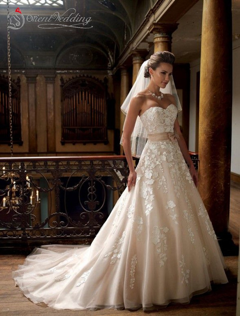 Hot Sale David Hillary A Line Wedding Dresses Sweetheart Sleeveless ...