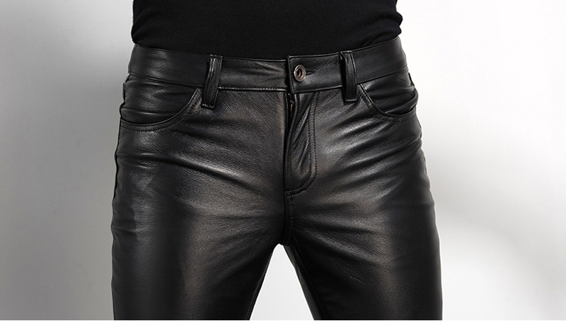 Men's Leather Pant Biker Pants Motorcycle Punk Rock Pants Tight Gothic Leather Pants  Slick Smooth Shiny Trousers Sexiest TJ01 25