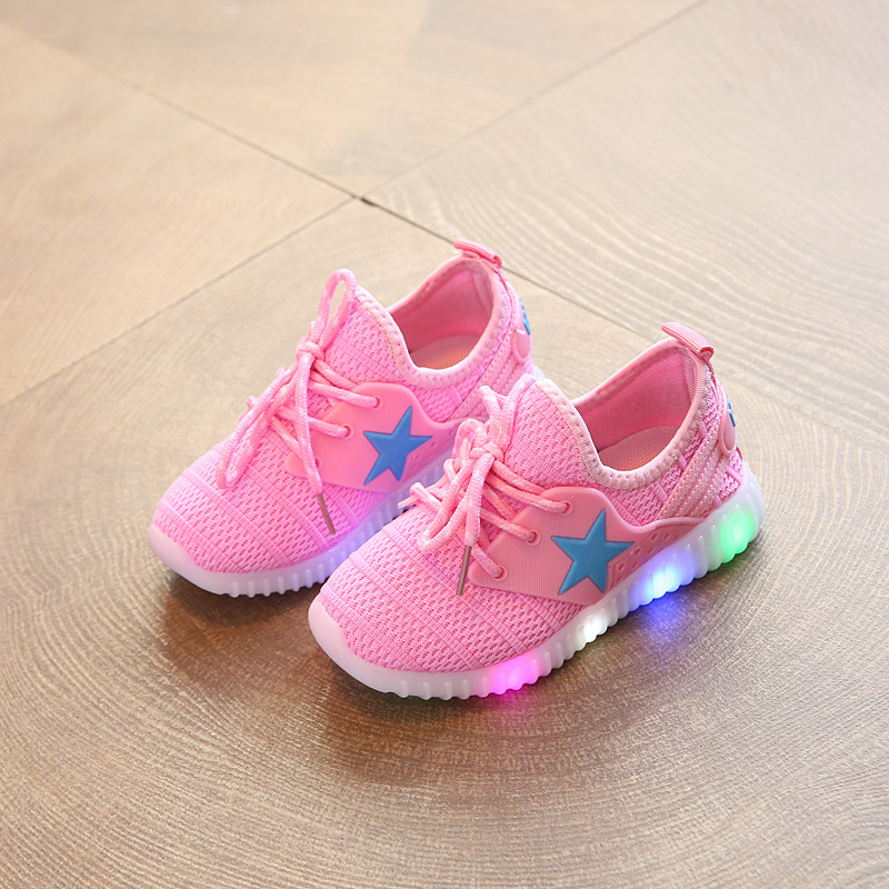 Aliexpress Buy Children s Casual Mesh Light up Shoes