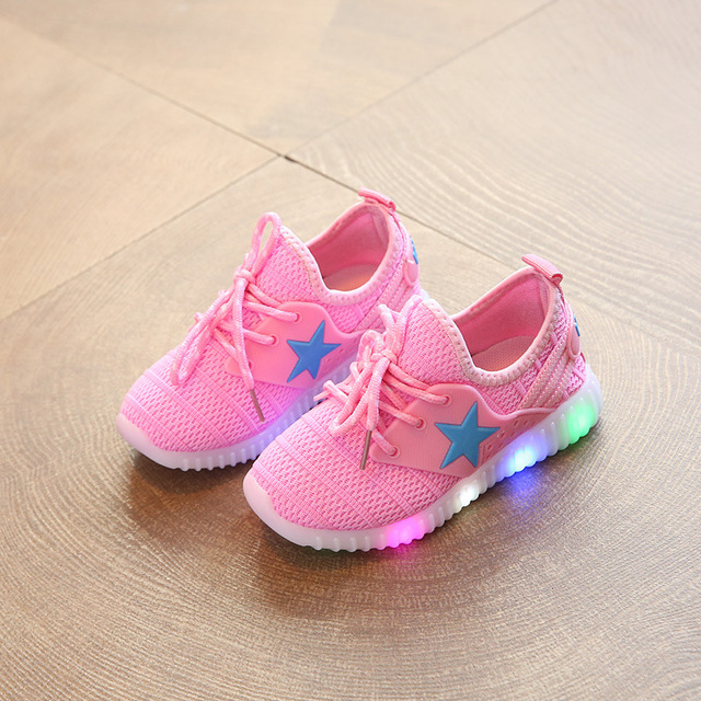 Children s Casual Mesh Light up Shoes Led Baby s Girls Hip Hop Shoes Toddler  Anti-Slip Shoes Boys Kids Tenis Glowing Sneakers d730cc417