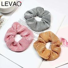 LEVAO Women Solid Color Gold Velvet Scrunchies Lady Elastic Headbands Satin Hairbands Girls Hair Tie Hair Rope Hair Accessories(China)