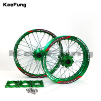 Front 1.60 17 Rear 1.85 14 Alloy Wheel Rim with CNC Hub of 15mm hole For KLX TTR125CC Dirt Pit bike 14 17 ihch Green wheel