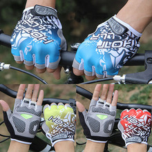 Unisex Bicycle Tactical Equipment Fitness Shockproof Half Finger Gloves