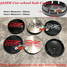 Para Todos Os Carros 100 pcs 56mm OZ OZ Racing Emblema logotipo do Carro emblema Roda hub Caps centro da roda cobre Carro Modificado Auto Adesivos