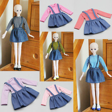 2019 New Dolls Accessories Clothes Dress for 60cm 1/3 BJD Doll Clothes Toy Suit Dress for bjd Toys for Girls Random Color [wamami] 701 3pc blue flower clothes dress suit 1 6 sd dz bjd dollfie
