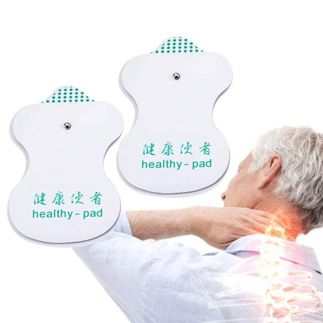10pcs White Electrode Pads Digital Meridian instrument Acupuncture Therapy Machine Relaxation Connector for Slimming Massager C3